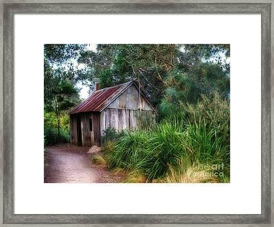 Timber Shack Framed Print by Kaye Menner