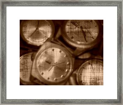 Time After Time Framed Print by Barbara S Nickerson