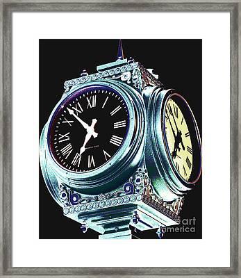 Time Framed Print by Colleen Kammerer