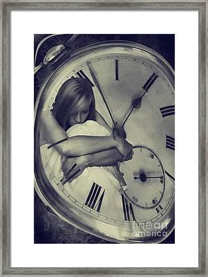 Time Constraint Framed Print by Amanda Elwell