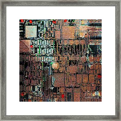 Time For A Motherboard Upgrade 20130716 Square Framed Print by Wingsdomain Art and Photography