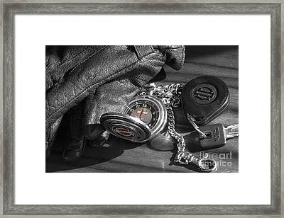 Time For A Ride Framed Print by Linda Lees
