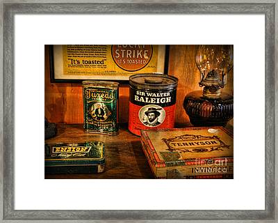 Time For A Smoke Framed Print by Lee Dos Santos