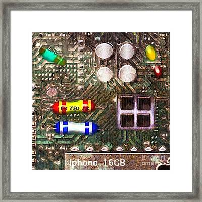Time For An Iphone Upgrade 20130716 Square Framed Print by Wingsdomain Art and Photography