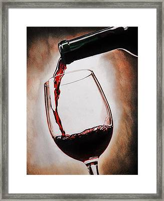 Time For Wine Framed Print by Brian Broadway