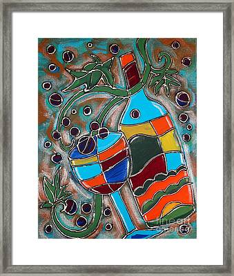 Time For Wine Framed Print by Cynthia Snyder