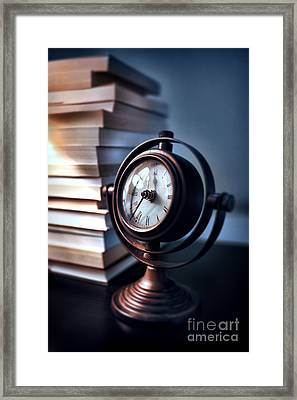 Time Framed Print by HD Connelly