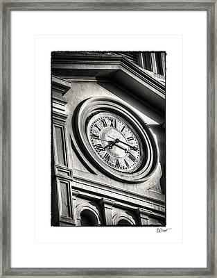 Time In Black And White Framed Print by Brenda Bryant