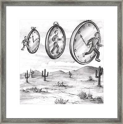 Time In To In Out Of Time Framed Print by Lee Serenethos