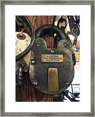 Time Lock Alcatraz Framed Print by FlyingFish Foto