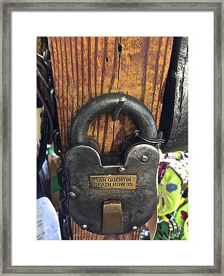 Time Lock San Quentin Framed Print by FlyingFish Foto