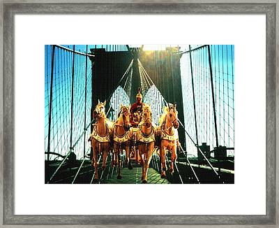 New York Time Machine - Collage Framed Print by Art America Online Gallery