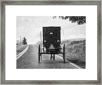 Time Machine -  Paint Bw Framed Print by Steve Harrington