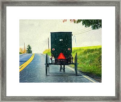 Time Machine -  Paint Framed Print by Steve Harrington
