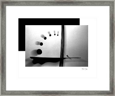 Time On A String Framed Print by Xoanxo Cespon
