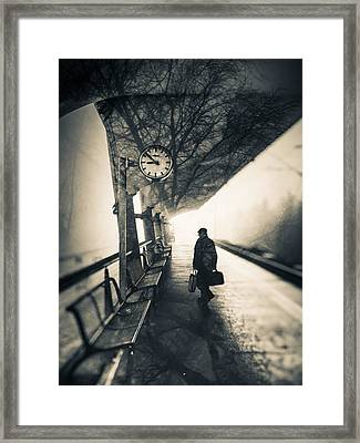 Time Framed Print by Silvijo Selman