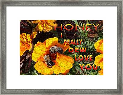 Time To Bumble Framed Print by Mike Breau