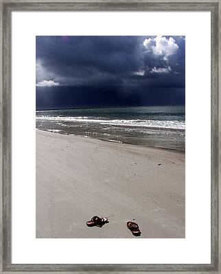 Time To Go Framed Print by Karen Wiles