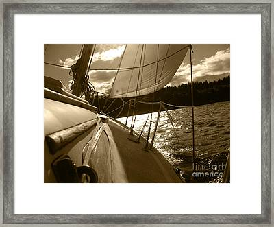 Time To Jibe  Framed Print by Kym Backland
