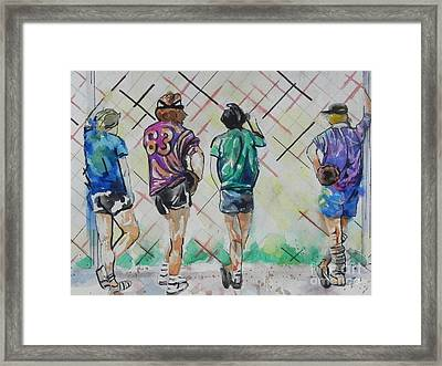 Time To Play Ball Framed Print by Chrisann Ellis