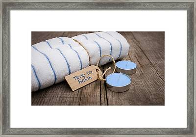 Time To Relax Framed Print by Aged Pixel