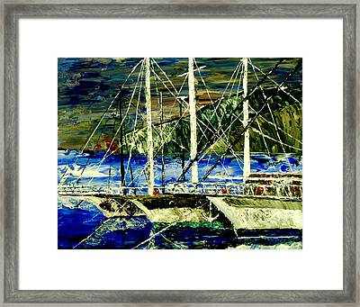 Time To Sail  Framed Print by Mark Moore