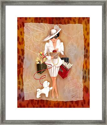 Time To Shop 1 Framed Print by Shari Warren