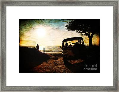 Time To Think Framed Print by Sabine Jacobs