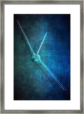 Time Framed Print by Toppart Sweden