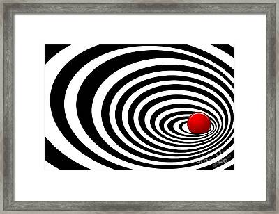 Time Tunnel Op Art Framed Print by Methune Hively