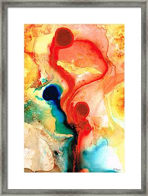 Time Will Tell - Abstract Art By Sharon Cummings Framed Print by Sharon Cummings