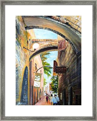 Timeless Alleys Framed Print by Betty M M   Wong