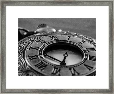 A Vintage Clock - Timeless Framed Print by Andrea Mazzocchetti