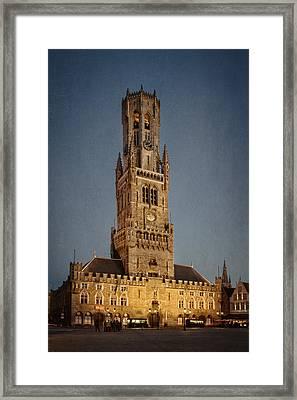 Timeless Bruges Belfort Framed Print by Joan Carroll