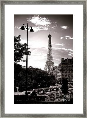 Timeless Eiffel Tower Framed Print by Olivier Le Queinec