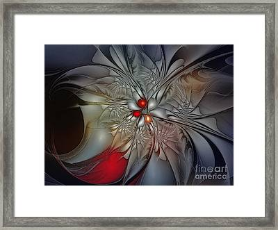 Timeless Elegance-floral Fractal Design Framed Print by Karin Kuhlmann
