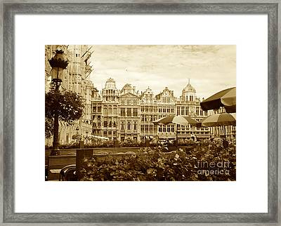 Timeless Grand Place Framed Print by Carol Groenen