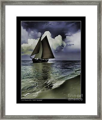Timeless Sailingboat Framed Print by Pedro L Gili