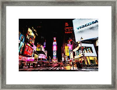 Times Square Framed Print by Andrew Paranavitana