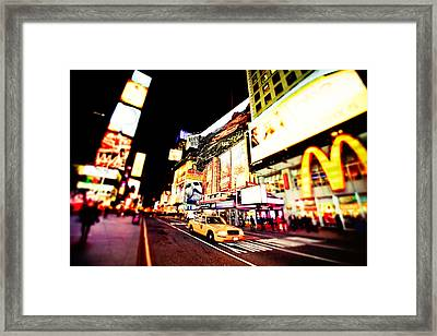 Times Square At Night - New York City Framed Print by Vivienne Gucwa