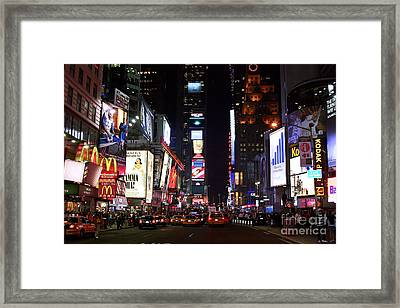 Times Square Colors Framed Print by John Rizzuto