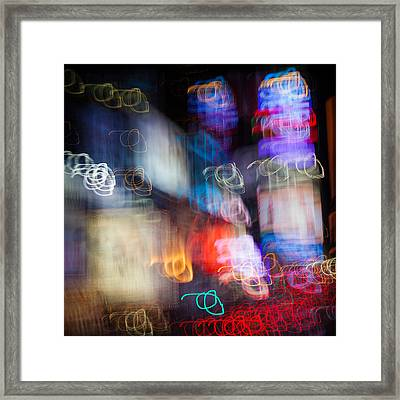 Times Square Framed Print by Dave Bowman