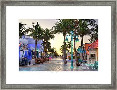 Times Square Fort Myers Beach Framed Print by Timothy Lowry