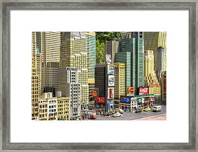 Times Square II Framed Print by Ricky Barnard