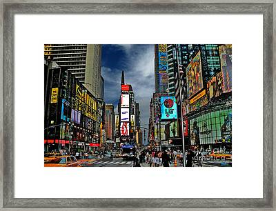 Times Square Framed Print by Jeff Breiman