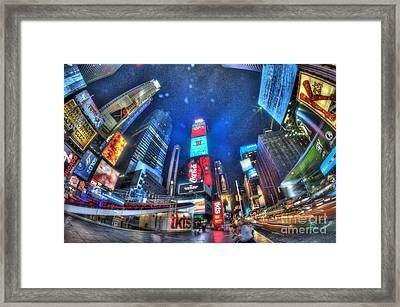 Times Square Framed Print by Mark Ayzenberg