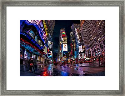 Times Square New York City The City That Never Sleeps Framed Print by Susan Candelario
