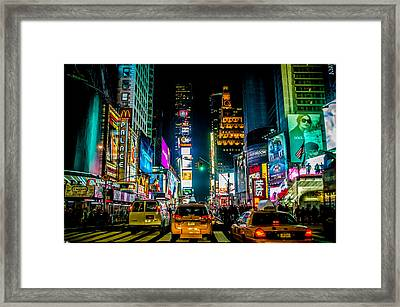 Times Square Nyc Framed Print by Johnny Lam