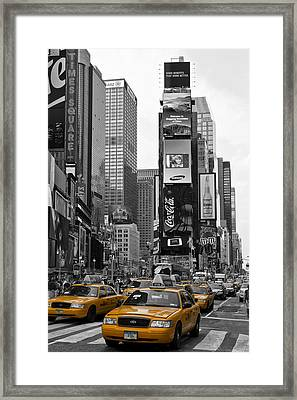 Times Square Nyc Framed Print by Melanie Viola