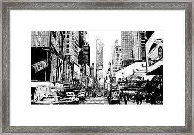Times Square Framed Print by Robin DaSilva